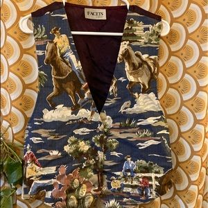 Vintage Facets by mirrors cowboy western vest